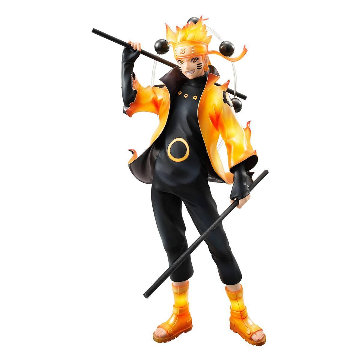 MEGAHOUSE - Naruto Shippuden G.E.M. Series PVC Statue Uzumaki Naruto Rikudo Sennin Mode 22 cm