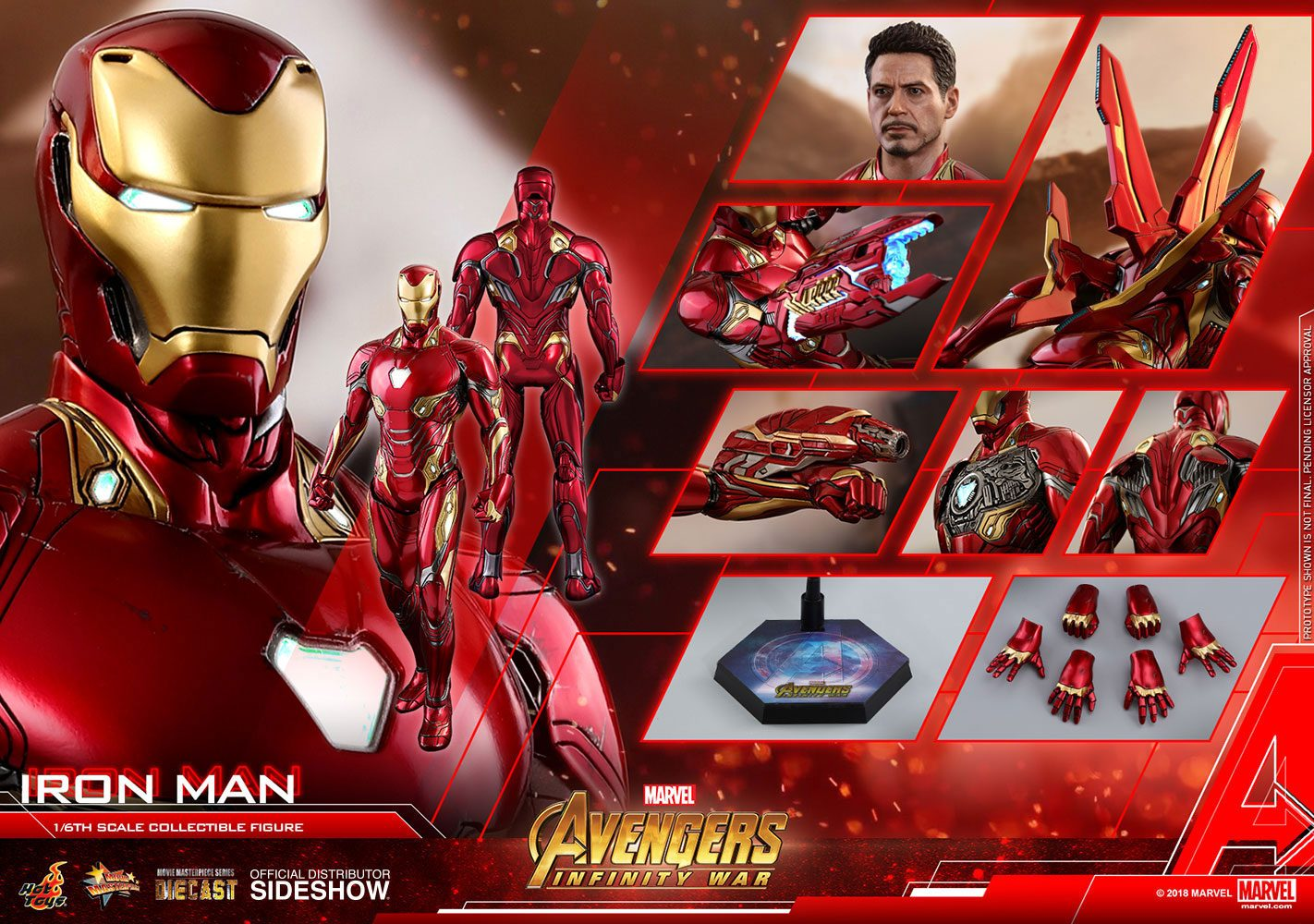 Hot Toys - Avengers Infinity War Diecast Movie Masterpiece mms473-d23 Action Figure 1/6 Iron Man 32 cm
