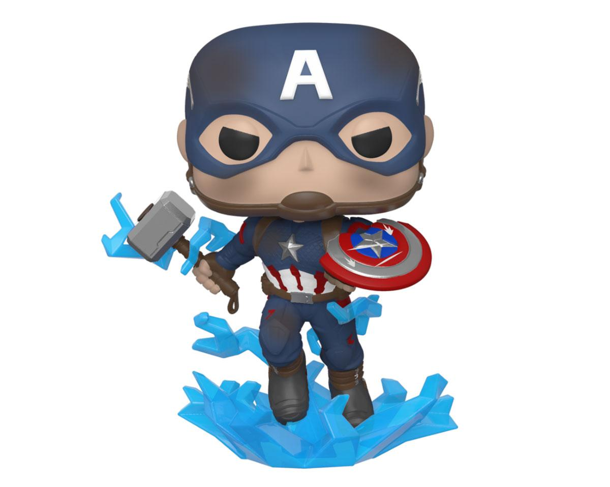 Funko POP Avengers Endgame Movies Vinyl Figure Captain America w/Broken Shield & Mjölnir